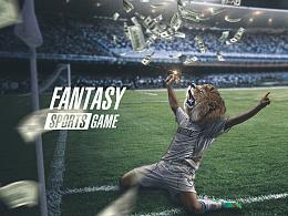 Fantasy体育竞技游戏海报