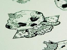 骷髅系列插画