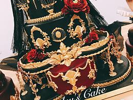 暗黑系婚礼蛋糕