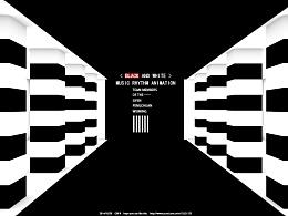 黑与白音乐动画