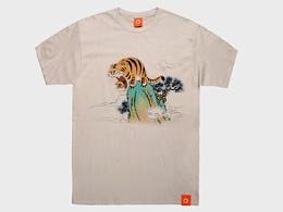 《虎啸山林图》T恤和帆布画衍生品