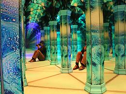 星夜主题镜子迷宫丨互动装置艺术