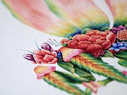 舒展《昆虫记—魔花螳螂》