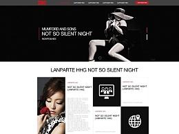 黑色大气的网页设计