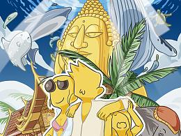 泰国行涂鸦