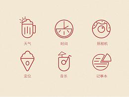 原创icon、原创字体设计、icon临摹