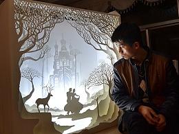 光与影的纸雕