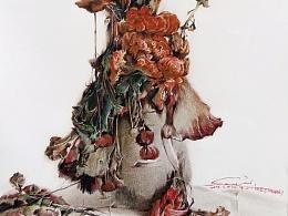临摹了一张作品 作品出自王绍波老师的《秋》 画的不好 见谅