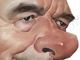 希拉克肖像漫画