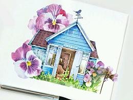 童话木屋,水彩诉故事