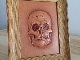 骷髅头骨———皮雕皮艺皮塑