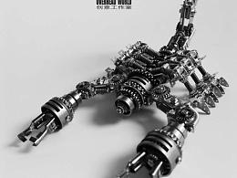蒸汽朋克蝎子-变形金刚版