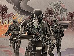 中国风《星球大战外传:侠盗一号》插画