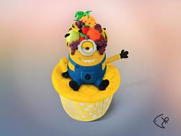 一枚杯子蛋糕超写实作品