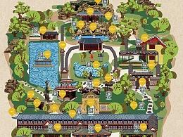 恭王府手绘地图