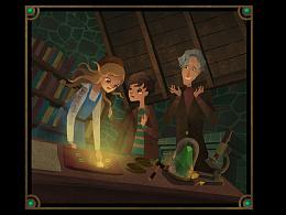 百词斩阅读计划《纳尼亚传奇》——《魔法师和他的侄子》 罗雨舒插画