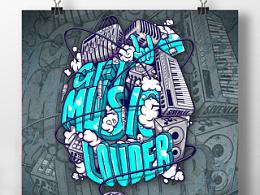 音乐节设计 get the music louder