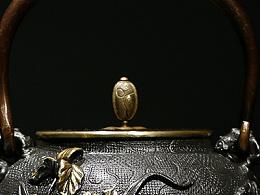 【沐焱堂】  君子兰铁壶 铸铁鎏金无涂层纯铁煮茶壶 养生茶壶出口日本