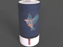 刺绣夜莺鸟