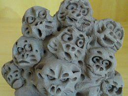 NI HOU TOYS传统纯手捏泥猴猴山.塑新斋的潘纪坤