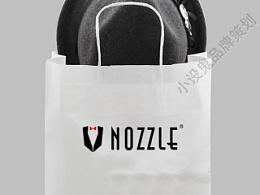nozzle服装品牌LOGO设计-小设鬼品牌策划