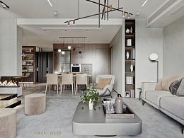 现代客厅风格表现 开工!