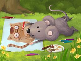 小老鼠画画