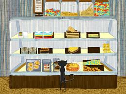 蛋糕店-Cool Cake  插画