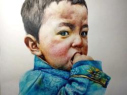 藏族小男孩
