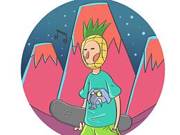 菠萝头少年