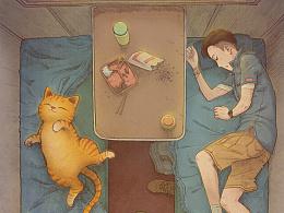 《带上橘猫去旅行》绿皮车2