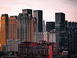 长沙城.夕阳