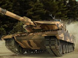 坦克Pro/E建模、渲染与PS制作