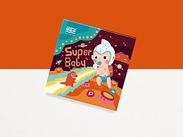 【爱哆哆】超级宝贝系列 爱哆哆诞生礼包装设计 卡通包装设计