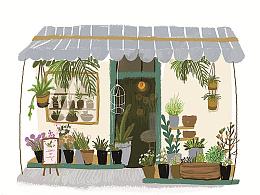 想说我也有一个开花店的梦想呢~