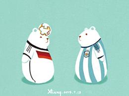 白熊与世界杯(动图)