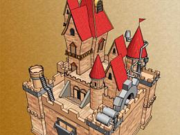 三维卡通城堡