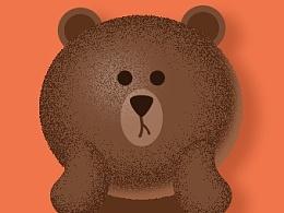 临摹一个布朗熊