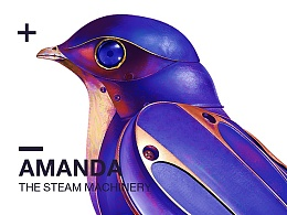 写实UI绘制-蒸汽机械[鸟]