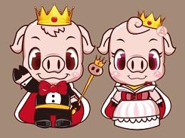 原创作品:猪皇子卡通形象设计(初稿阶段)