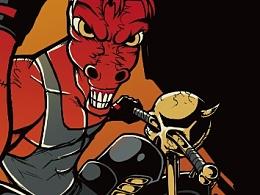 狂野红牛与红马