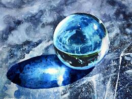水彩玻璃珠