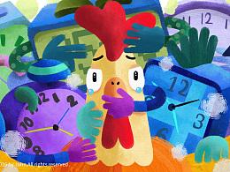 鸡年的零散插画