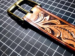 手工制作皮雕皮带
