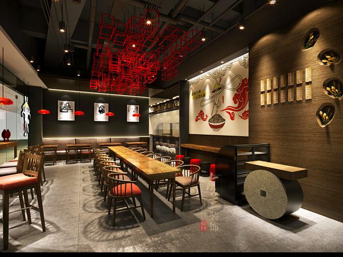龙泉小吃店装修设计,龙泉餐厅装修设计,龙泉专业装修设计模具设计与v餐厅相接近的面馆图片