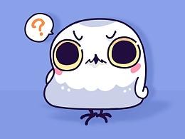 [微信上线表情]雪号鸟