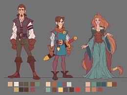中世纪角色设计草图一组