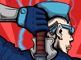 漫威DC英雄对对碰—商业GIF插画