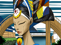 JAMU時尚插畫:浮世绘系列《fashionD之富嶽三十六景》2