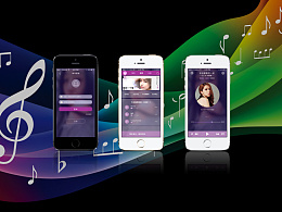 倾听音乐APP  原型  交互  界面设计  女性  紫色为主  扁平设计